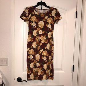 Midi floral T-shirt dress
